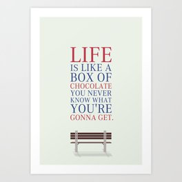 Lab No. 4 - Forrest Gump Movies Inspirational Quotes Poster Art Print