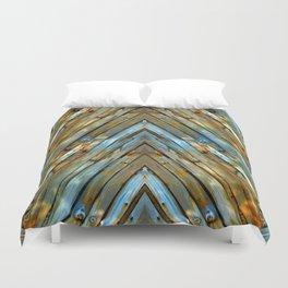Knotty Plank Texture Duvet Cover