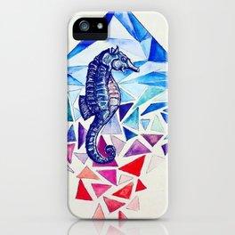 Seahorse on the Ocean floor iPhone Case