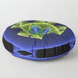 3D Graphic, Colorful Luminous Fractal Art Floor Pillow