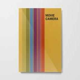 Retro Movie Camera Color Palette Metal Print