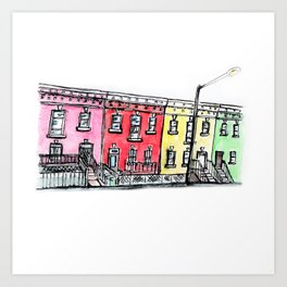 DC row house no. 1 II Columbia Heights Art Print
