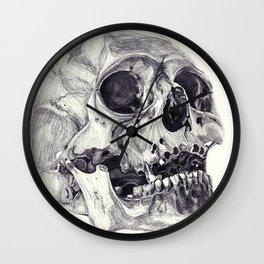 Skull pencil drawing Wall Clock