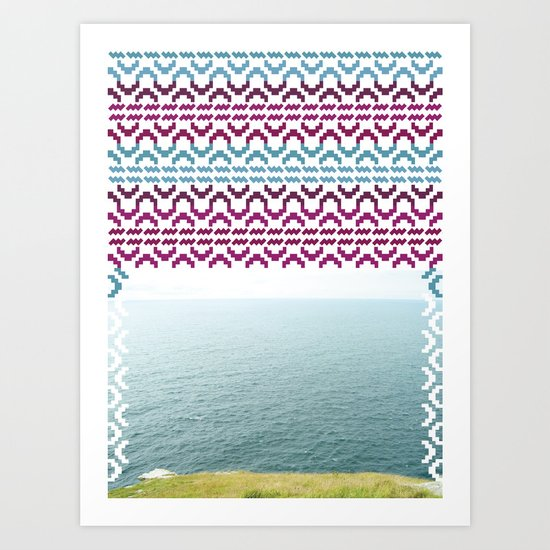 AZTEC 'Beyond The Sea' 1-2 Art Print