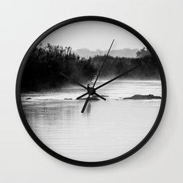 Heron at Dawn Wall Clock