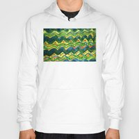 green pattern Hoodies featuring Green pattern by Nato Gomes