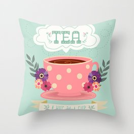 Tea Is A Hug In A Cup Throw Pillow