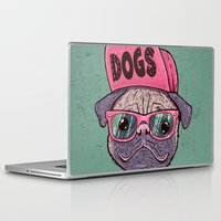 dogs Laptop & iPad Skins featuring Dogs by Lime