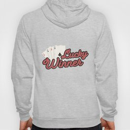 Poker Players Gift 4 Aces Playing Cards Lucky Winner Hoody