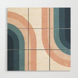 70s Rainbow Wood Wall Art