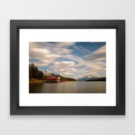 MALIGNE LAKE AUTUMN JASPER CANADA LANDSCAPE PHOTOGRAPHY Framed Art Print
