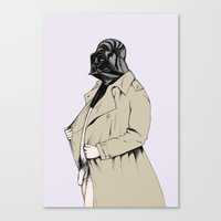 darth Canvas Prints featuring Darth by Annika Bäckström