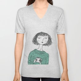 Coffee and Sweaters Unisex V-Neck