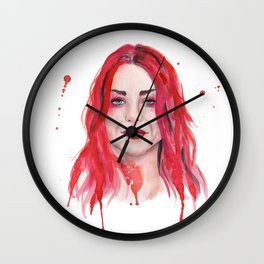 Frances Bean Cobain Wall Clock