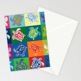 Loggerhead Sea Turtle Batik Patchwork Stationery Cards