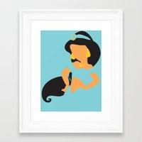 aladdin Framed Art Prints featuring Jasmine - Aladdin by Adrian Mentus