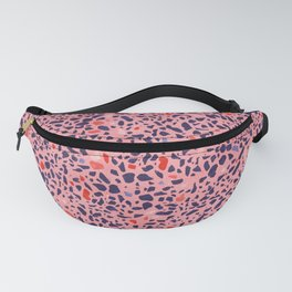 Terrazzo pink red blue Fanny Pack