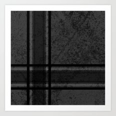 Grungy Grey Plaid Art Print