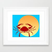 cancer Framed Art Prints featuring Cancer by Geni