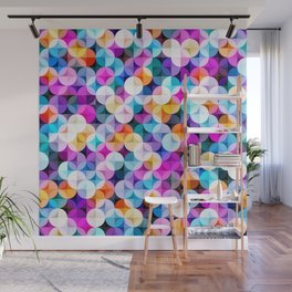 Modern colorful abstract geometric illustration pattern - vintage syule Wall Mural