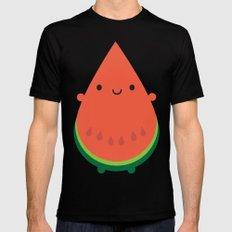 Kawaii Watermelon MEDIUM Black Mens Fitted Tee