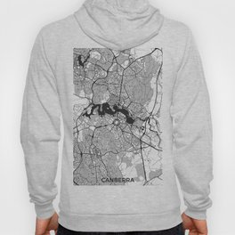Canberra Map Gray Hoody