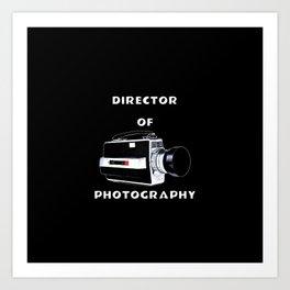 Director Of Photography Art Print
