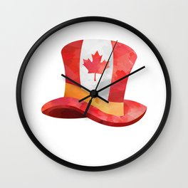 Canada Lover Canada Hat Canadian People Mapple Leaf Heart product Wall Clock