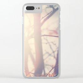 Sun light through tree branches-Santa Fe, NM Clear iPhone Case