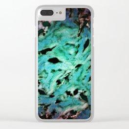 Smash smash turquoise Clear iPhone Case