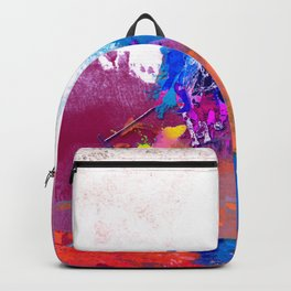 polo abstract red blue Backpack