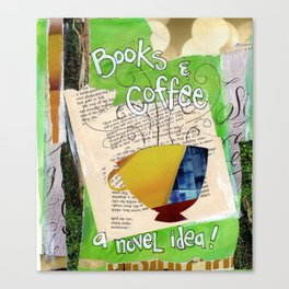 Books and Coffee Canvas Print