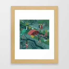 Ukiyo-e tale: The beginning of the trip Framed Art Print