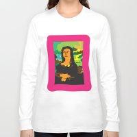 mona lisa Long Sleeve T-shirts featuring Mona Lisa by John Sailor