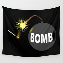 Bomb and Match Wall Tapestry