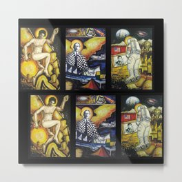 The Conquest of Man Before the Universe portrait painting by Gilberto Gomes Metal Print