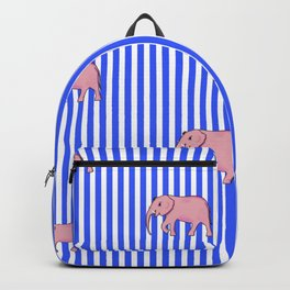 strip and elephants (https://society6.com/vickonskey/collection) Backpack
