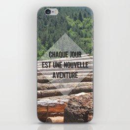 the wood factory II iPhone Skin