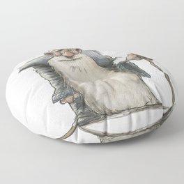Old Man Wizard Floor Pillow
