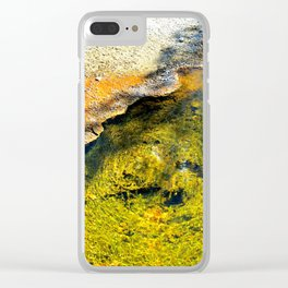 Geyser in Yellow Clear iPhone Case