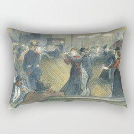 "Théophile Steinlen ""Le Bal Musette: The Dance"" Rectangular Pillow"