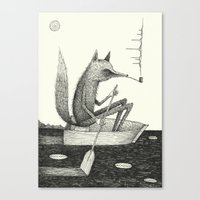 lake Canvas Prints featuring 'Across The Lake' by Alex G Griffiths