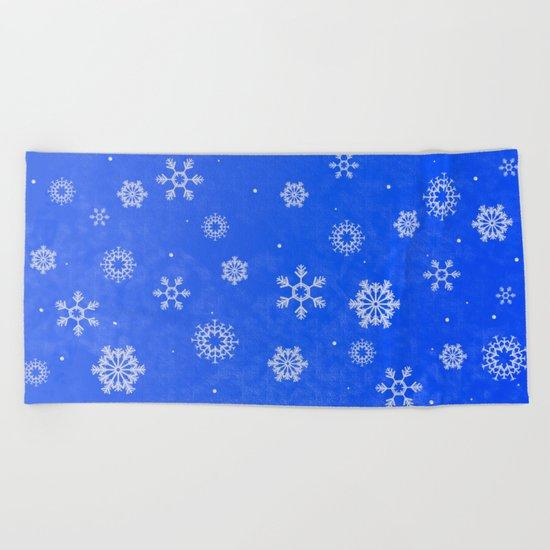 Snow Beach Towel