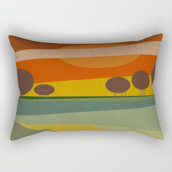 ABSTRACT SUNSET Rectangular Pillow