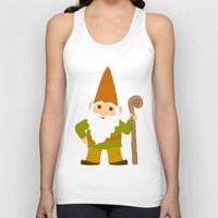 gnome Tank Tops featuring gnome sweet gnome by Elephant Trunk Studio