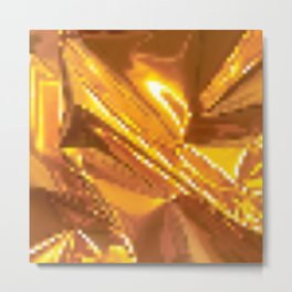 Pixel GOLD Metal Print