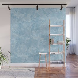 Blue Water Marble Texture Wall Mural