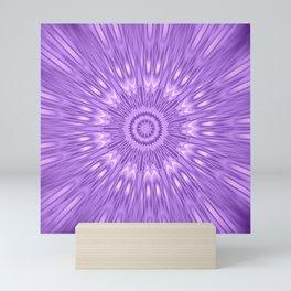 Lavender Purple Mandala Explosion Mini Art Print