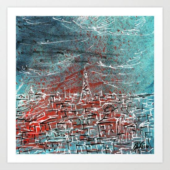 View of Paris Art Print