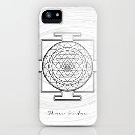 Swirly Shree Yantra iPhone Case